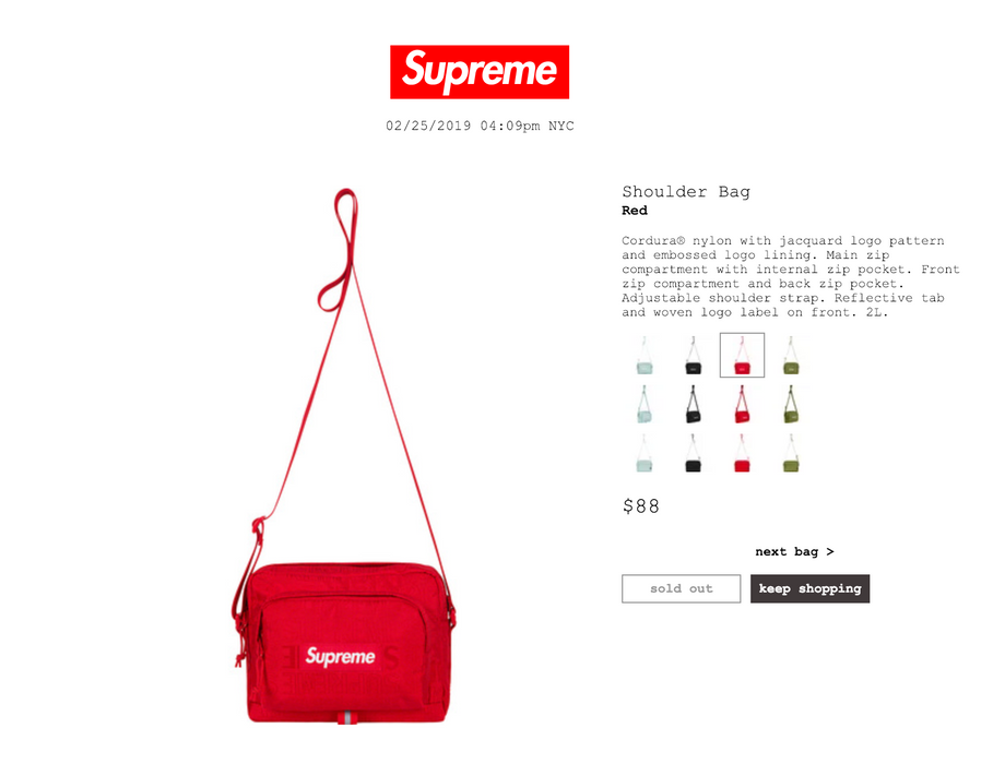 Supreme Supreme Waist Bag (SS19) Red Size one size - Bags   Luggage ... 337102f6f5e51