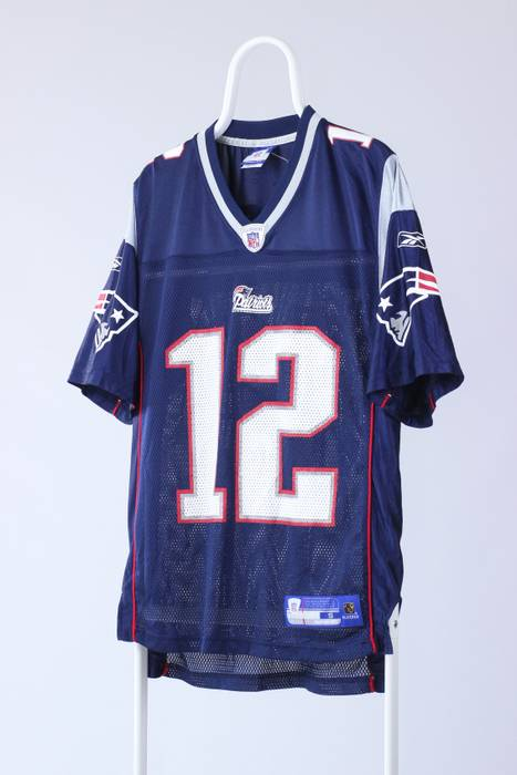 Reebok Mens REEBOK Patriots NFL TOM BRADY  12 Jersey Shirt Top Size US S   04e98fadc