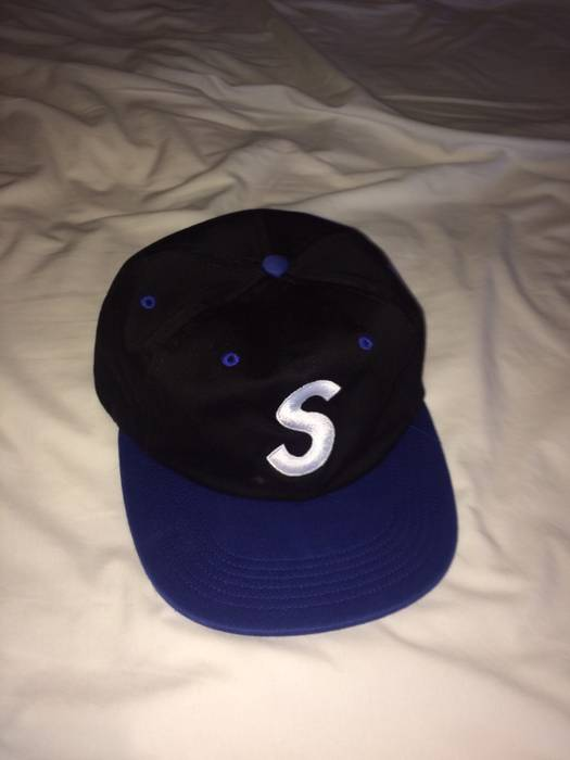 Supreme S logo hat cap 2 color SUPREME blue black BAPE PALACE Size ONE SIZE  - 8dc22daeadd
