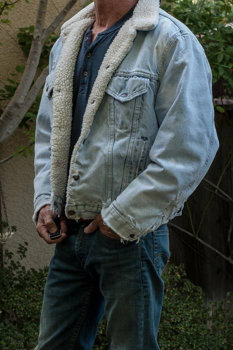 a7be3799d41 Levi s Vintage Levis Distressed Sherpa Fleece Lined Distressed Jean ...
