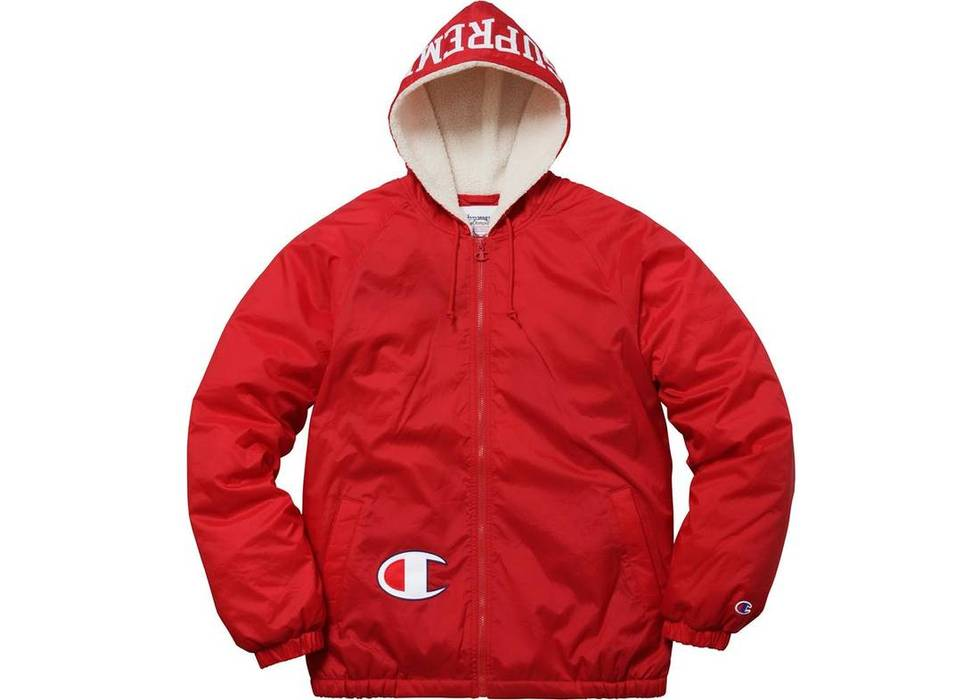 e7dcd265f75f Supreme Supreme Champion Sherpa Lined Hooded Jacket Red Size US L   EU 52-54