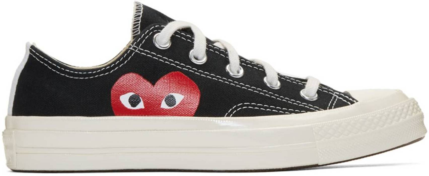 ccd8fe18a2f1 Converse CDG PLAY x CONVERSE CHUCK TAYLOR BLACK LOW US 8 EUR 41 Size US 8