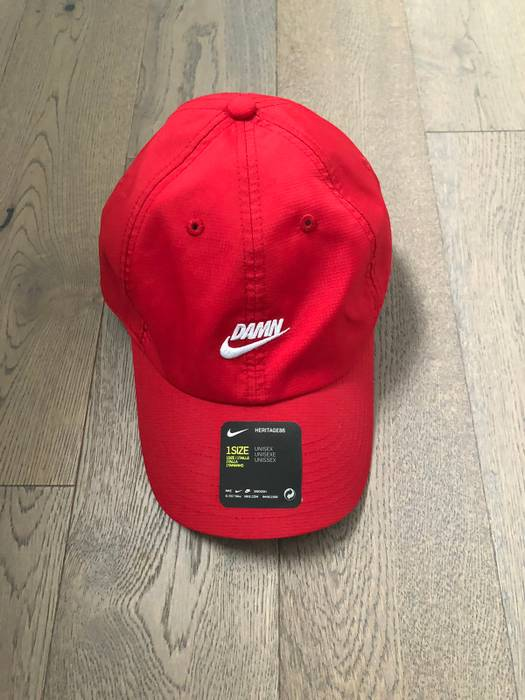 Nike Nike X Kendrick Lamar  Damn  Hat (red) Size one size - Hats for ... c930b3b71e4