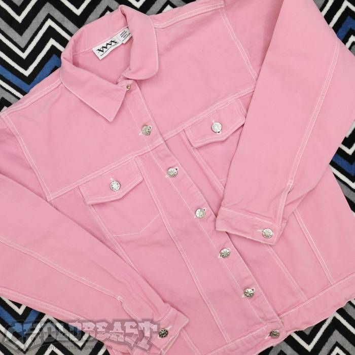 6c34bcdb2b Vintage VTG White Mountain Traders Light Pink Denim Levis Lee Trucker Jacket  L Size US L