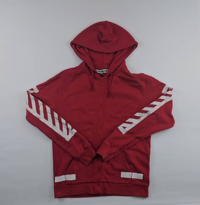 c517dc83c692 Off-White Off White Red Spray Hoodie Size m - Sweatshirts   Hoodies ...