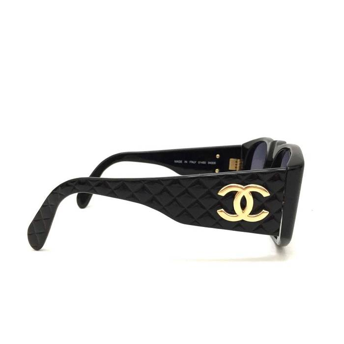 14709ab7c5c Chanel Quilted Matelasse CC Logo Black Vintage Sunglasses Size ONE SIZE - 2
