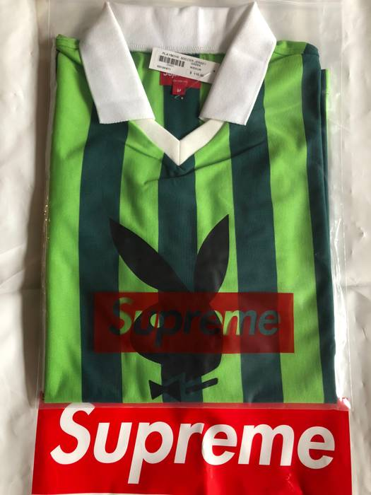 Supreme Supreme x Playboy Soccer Jersey Green Medium M IN HAND READY TO  SHIP SS18 Size ba9bf7c32