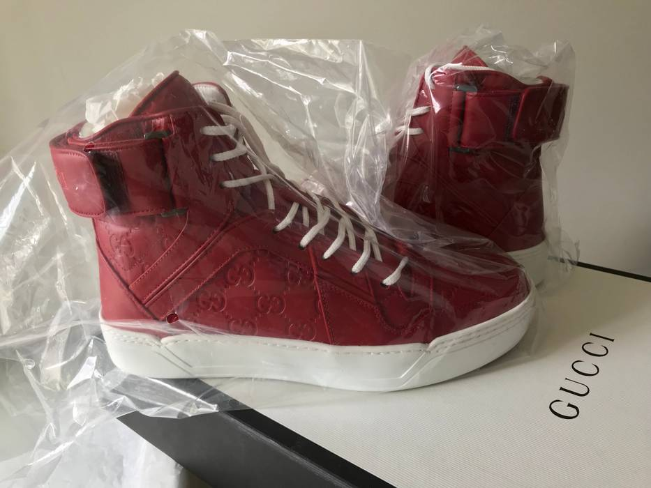 323750b83 Slide 1 of 9. Gucci Gucci New Basketball High Top Sneaker In Hibiscus Red  Size US 6   EU 39