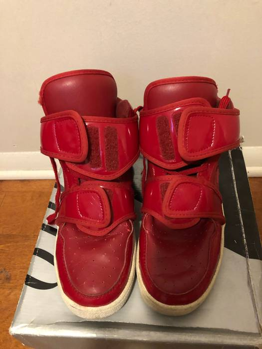 Kanye West 2008 Ato Matsumoto Red Cowhide Boots Size 10 - Hi-Top ... 5619ec9b1e