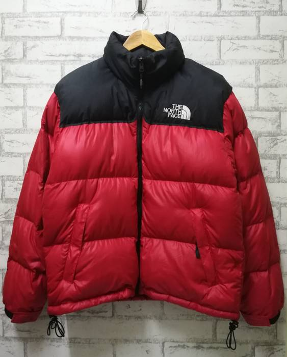 The North Face. 🚨 Final Drop 🚨 The North Face Nuptse 700 Goose Down Puffer  Red Black Jacket Men M daaffc109