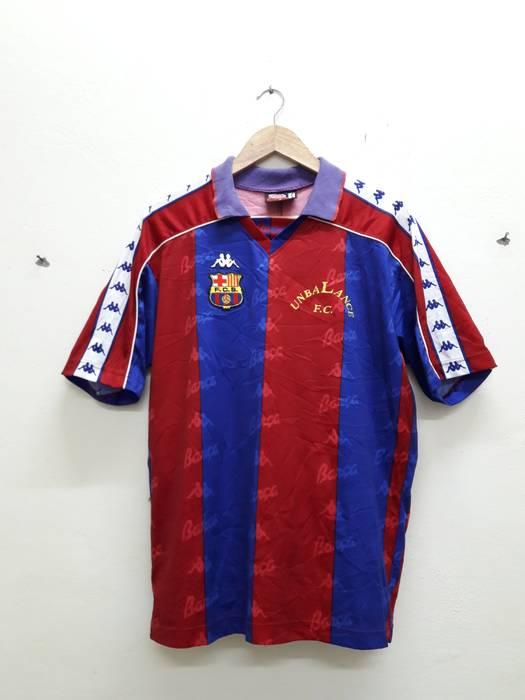 Kappa Barcelona Kappa Football shirt fullprint Jersey Size US L   EU 52-54   ee59f6ac3