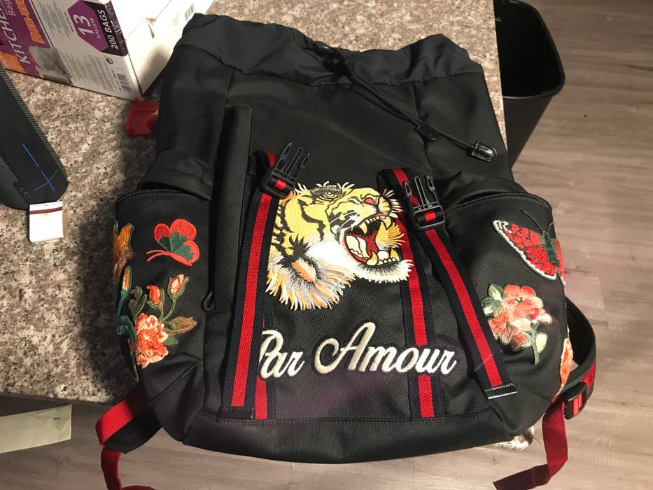 3ecfc9048e32 Gucci Gucci Backpack With Embroidery $850 Tonight And Tomorrow Only ...