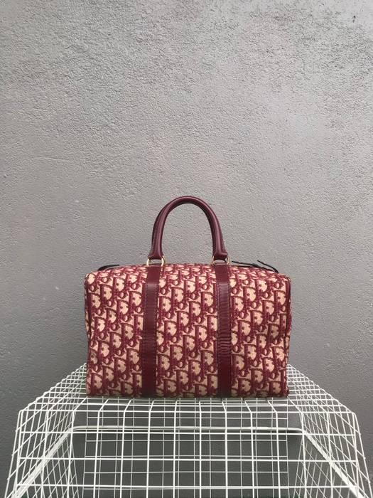6b007a8af9e3 Dior Vintage Christian Dior Monogram Burgandy Boston Speedy Bag Size ONE  SIZE