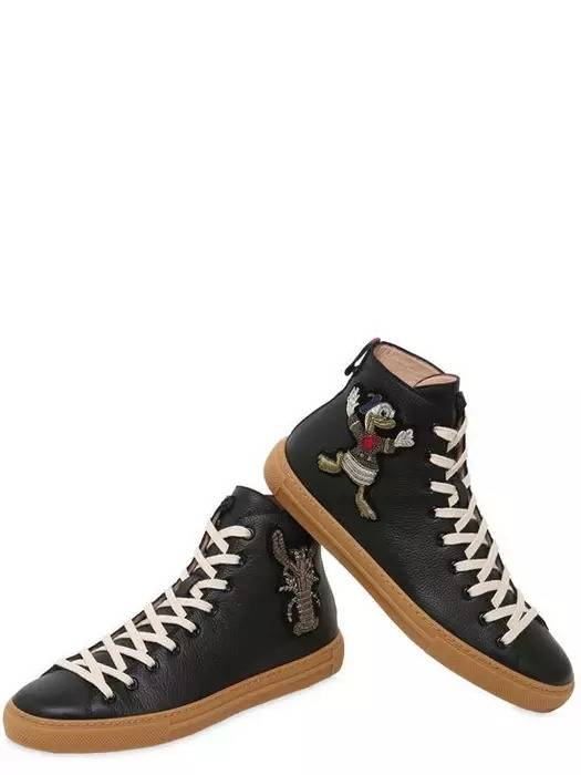 e17ff81db5687 Gucci. Gucci Major Embroidered Black Leather Authentic  1300 Sneakers Size  41 New