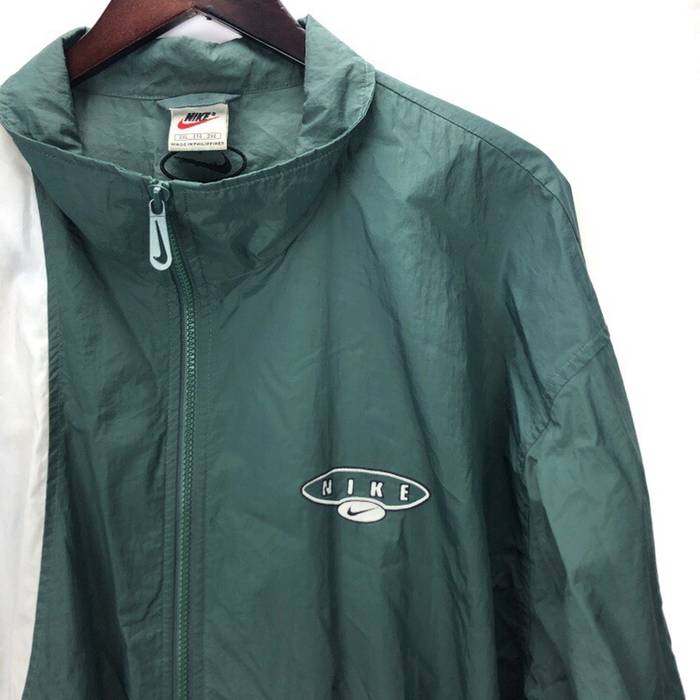 Nike Nike Vintage 90s Green Black White Colorblock Windbreaker Jacket Size  US XXL   EU 58 c5fa5e497