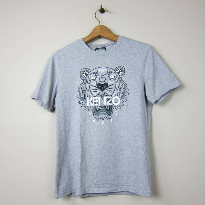 4e9868c4 Kenzo. Kenzo Paris L 100% Cotton Made in Portugal Gray Heathered Tiger  Front Graphic Short Sleeve TShirt. Size: US L / EU 52-54 / 3