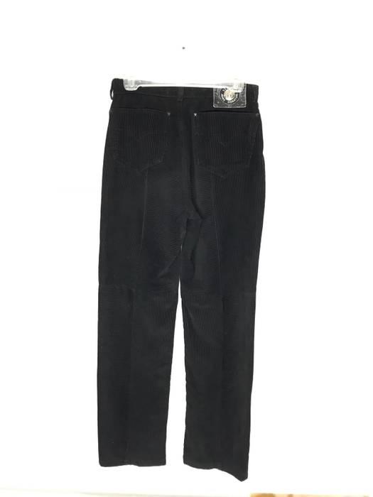 f6c45214088210 Vintage VINTAGE VERSACE JEANS COUTURE MEDUSA BUTTON CORDUROY PATTERN BLACK  SLIM STRAIGHT SIZE 29 Size US