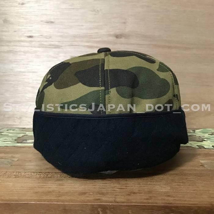 147b3c6f69b5 Bape A BATHING APE BAPE X CARHARTT 1ST CAMO DUCK COTTON CAP GREEN Size ONE  SIZE