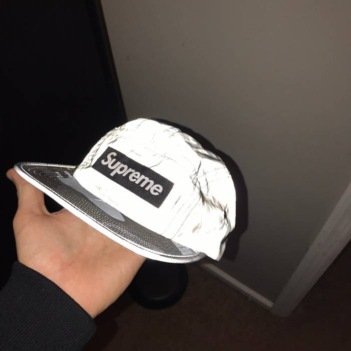 Supreme Supreme Reflective 3M Grey Camo 5 Panel Adjustable Hat Size ONE SIZE 6a7db889246