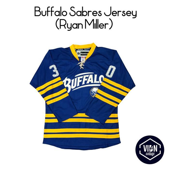 Vintage Vintage Ryan Miller Buffalo Sabres Jersey Size US L   EU 52-54   560274fd50a