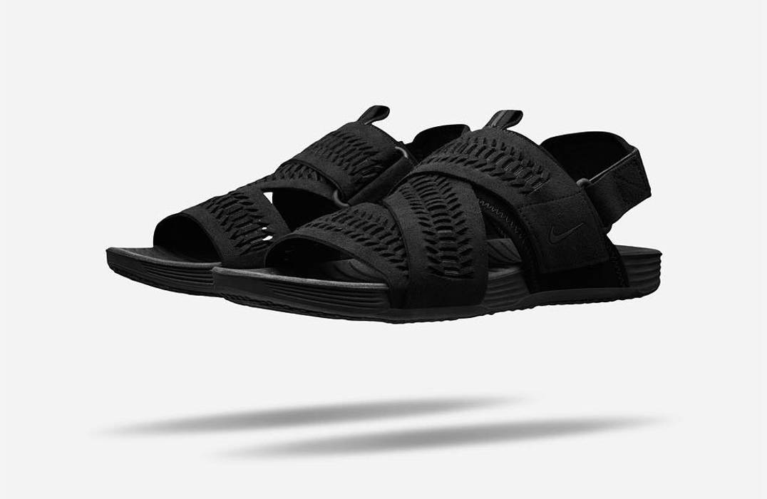 c88455a0b68 Nike NikeLab Air Solarsoft Zigzag Woven 9 Black Size 9 - Sandals for ...