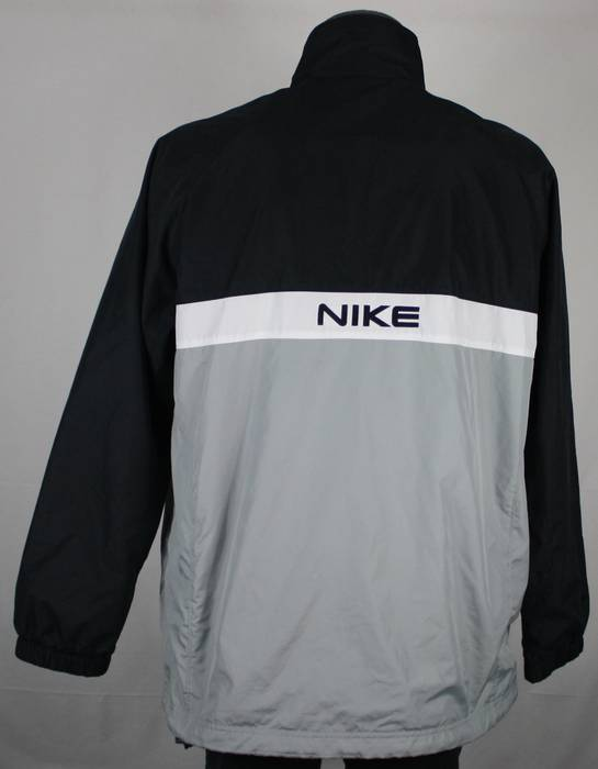 8eea1327a628 Nike × Vintage. Vintage Nike Spell Out Black   Gray Colorblock Windbreaker  Jacket Mens L hip hop. Size  US L   EU 52-54 ...