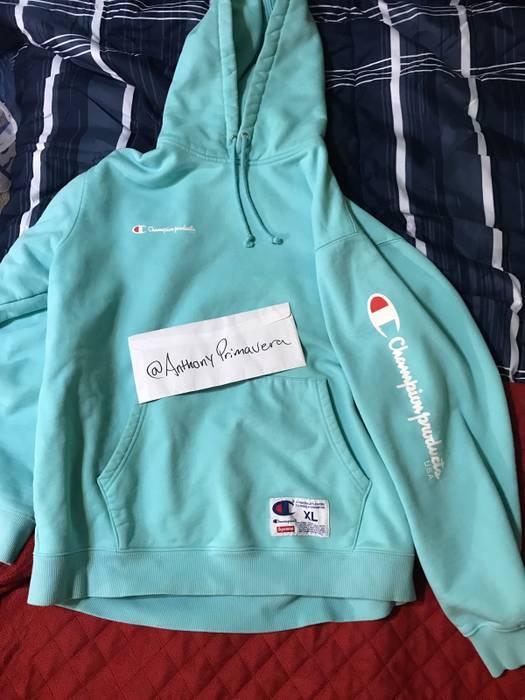 69d33deac01f Supreme Aqua Supreme Champion Hoodie Size xl - Sweatshirts   Hoodies ...