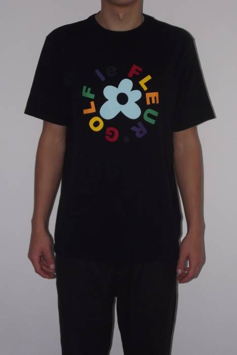fbc1bd8cf08213 Converse Golf Le Fleur Black Tee T-shirt Size m - Short Sleeve T ...