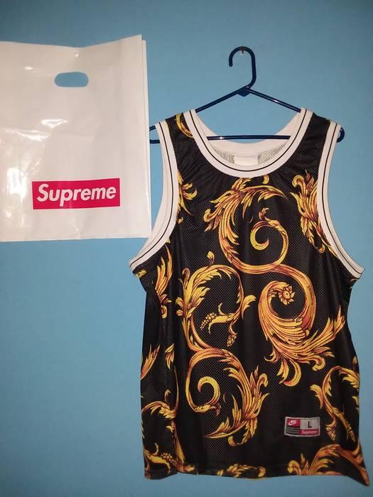 54b30e9a8ea Supreme Supreme Nike Foamposite Basketball Jersey Black L Size US L   EU  52-54
