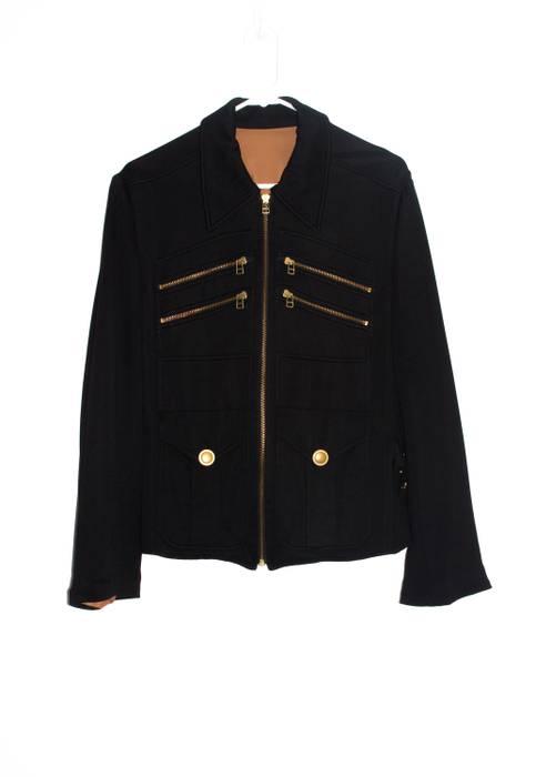 Jean Paul Gaultier Black Military Style Jacket w  Gold Hardware ... 77e6c813701