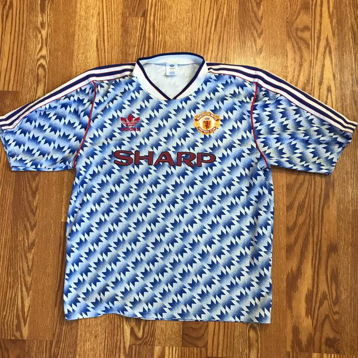 a47b2764087 Adidas Rare Manchester United Away Jersey 1990 91 92 Size l - Short ...