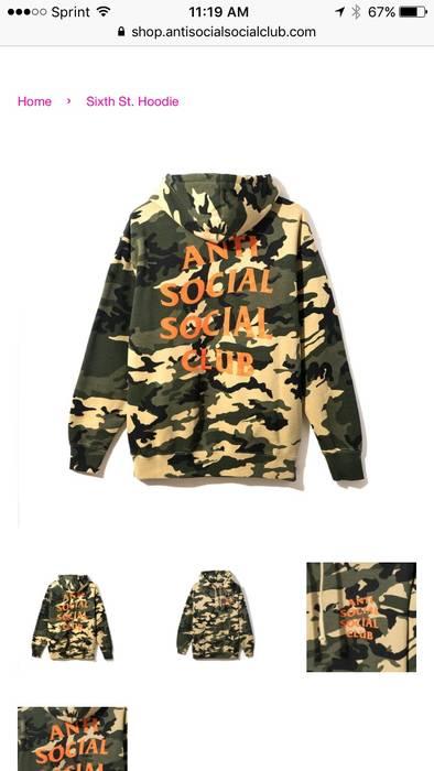 b20160311644 Antisocial Social Club Anti Social Social Club Sixth Street Hoodie ...