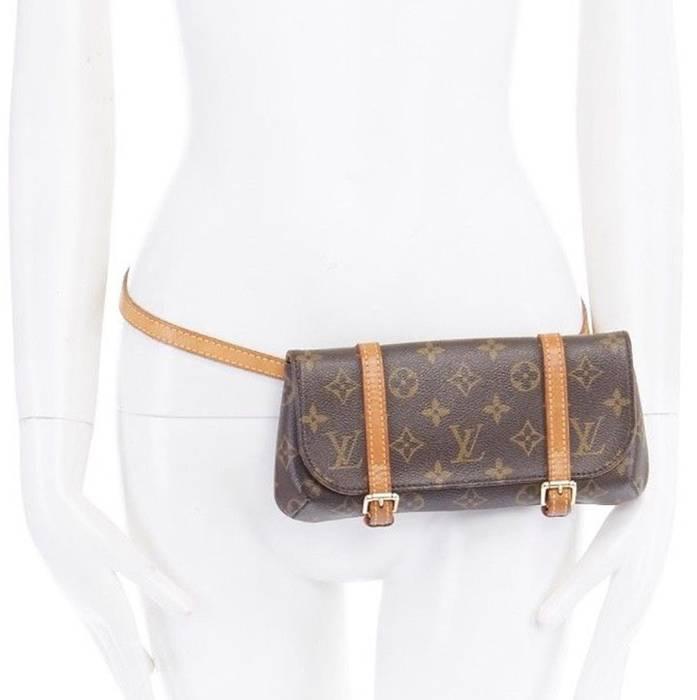 Louis Vuitton. LOUIS VUITTON LV Pochette Marelle PM monogram dual strap  fanny waist belt bag 8ebe689c312c0