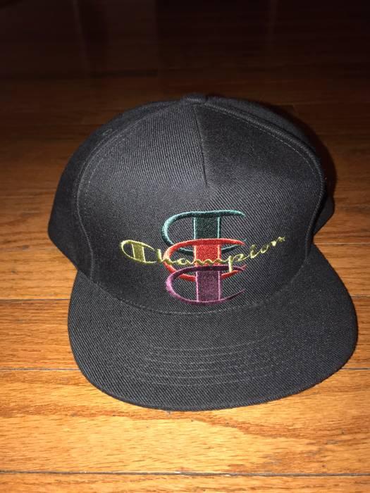"9ad9e9f03b5 Supreme Supreme x Champion Snapback Hat ""Black"" Size one size - Hats ..."