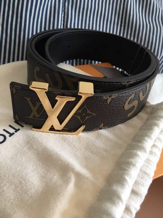 6867b7fd49ad Supreme Louis Vuitton Supreme brown Men s Belt Size 44 - Belts for ...