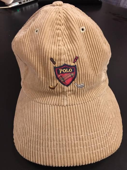 Polo Ralph Lauren Vintage Polo Golf Corduroy Khaki Hat Size one size ... 773b53a0dfc