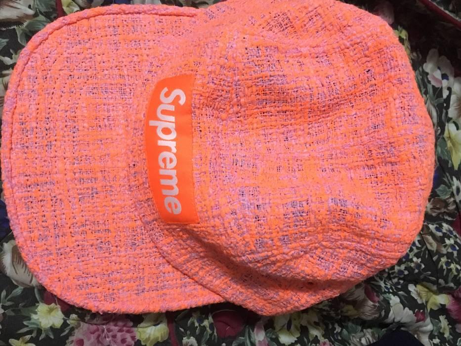 3d46d8e30fc Supreme Supreme Bouclé Camp Cap Coral Size one size - Hats for Sale ...