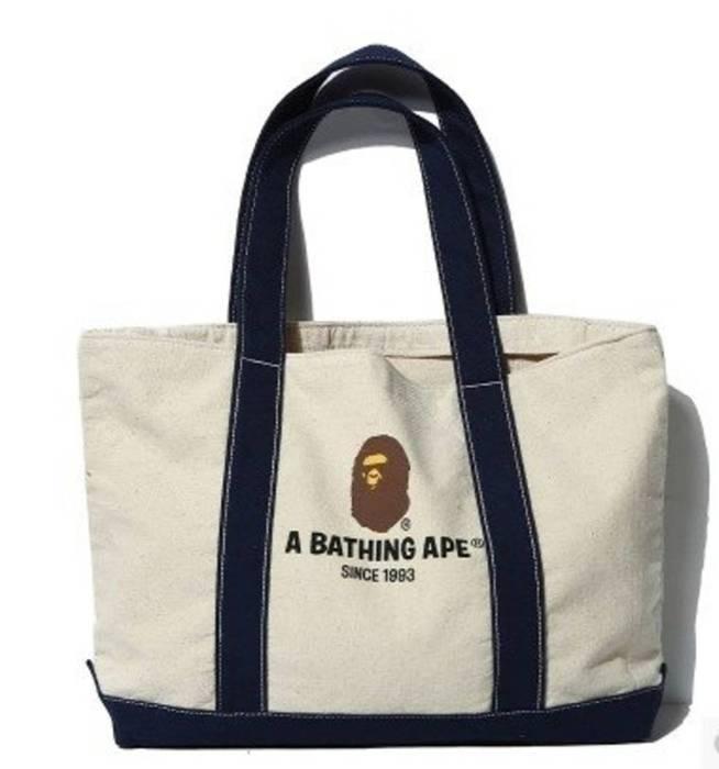 Bape BAPE Logo Canvas Logo Shoulder Tote Bag - A Bathing Ape Size ... c1dc54f0256e0
