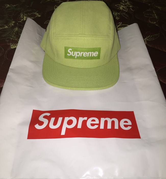4b5aec05d99 Supreme Green Stone-Wash Camp Size one size - Hats for Sale - Grailed