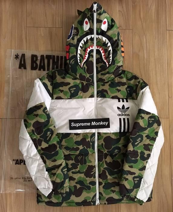 698cd4701b4b Adidas Bape x Adidas Shark Down Jacket Size m - Parkas for Sale ...
