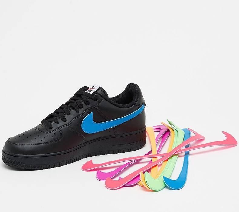 5e47017ea338 Nike Nike Air Force 1 07 Velcro Swoosh Pack QS Black Acronym Travis ...