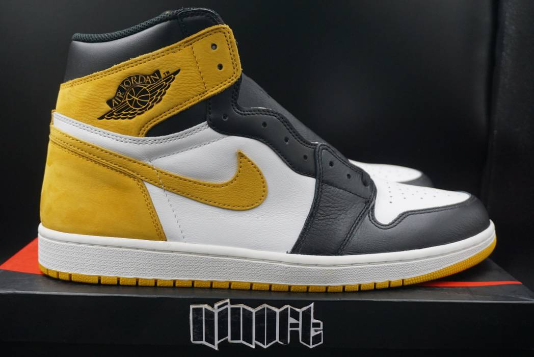 4f271bfb11912b Nike Air Jordan 1 Retro High OG 6 Rings Yellow Ochre Best In Hand 555088-
