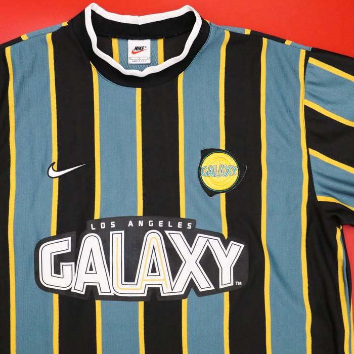 Nike VTG 97 98 Nike LA Galaxy MLS Soccer Stripe Jersey Vintage1990s USA  RARE Mens XL a4111c438