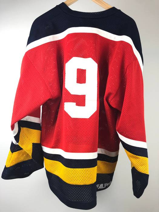 788d5cda4 Vintage Old Crows Philly Crutch Hockey Jersey Red Yellow White Blue Size US  XL   EU