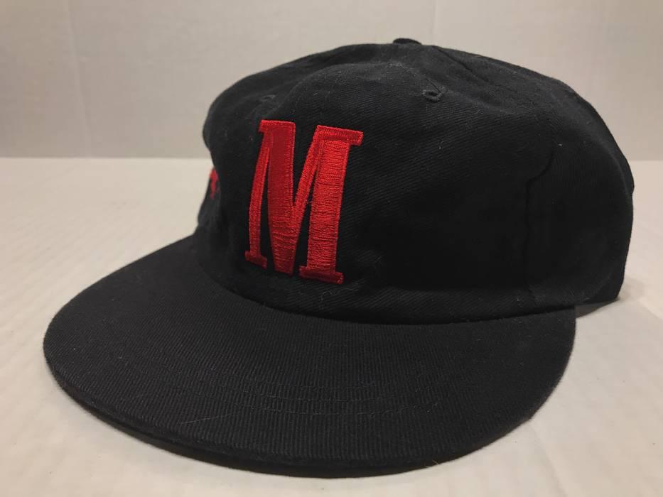 3832bc25153 Vintage 90s Marlboro M Logo Cowboy Embroidered Strapback Baseball Hat Size  ONE SIZE