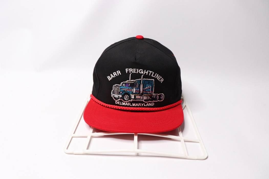 8488f92e65f Vintage Vintage 80s Barr Freightliner Delmar Maryland Truck Roped Snapback  Hat Cap Black Size ONE SIZE