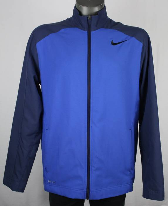 30289d426f Nike. Nike Dri-Fit Blue Colorblock Navy Athletic Performance Jacket Mens L  running