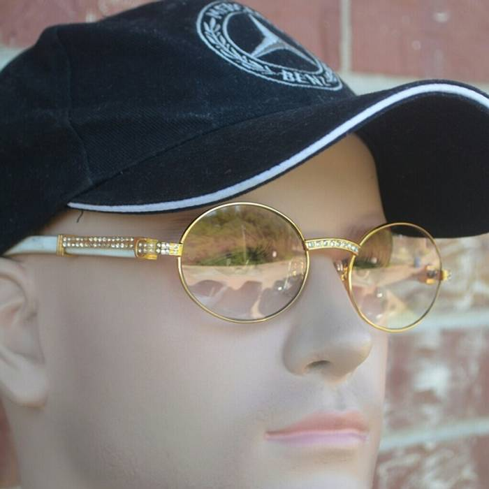a3a838a913 Cartier Custom Vintage Diamond Cartier Buffalo Sunglasses Size ONE SIZE - 1