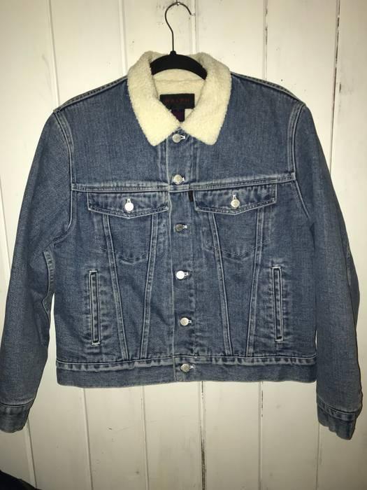 9153d8e604 Polo Ralph Lauren Faux Sherpa Lined Trucker Jean Jacket Size US M   EU 48-