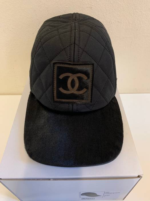 181e31f5bb2 Chanel Quilted Pony Hair Cap Size one size - Hats for Sale - Grailed